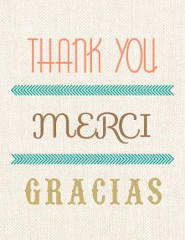 Thank you, Merci, Gracias! Thank You Cards