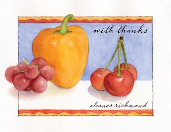 Fresh Produce Thank You Cards
