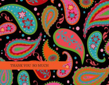Indian Paisley Thank You Cards