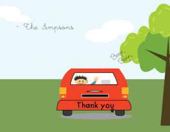 Beep Beep Thank You Cards
