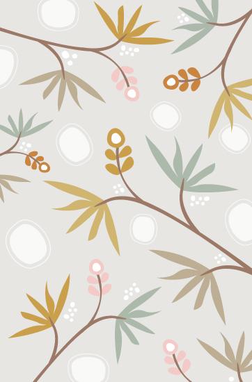 art prints - Botanical wallpaper by Stacey Meacham