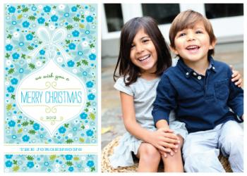 Christmas Flora Holiday Photo Cards