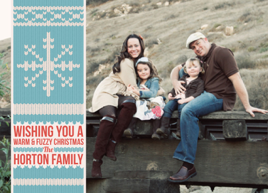 holiday photo cards - Warm & Fuzzy Snowflake by Sparkmymind Designs