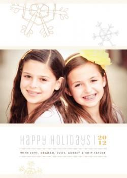 Gilded snowflakes Holiday Photo Cards
