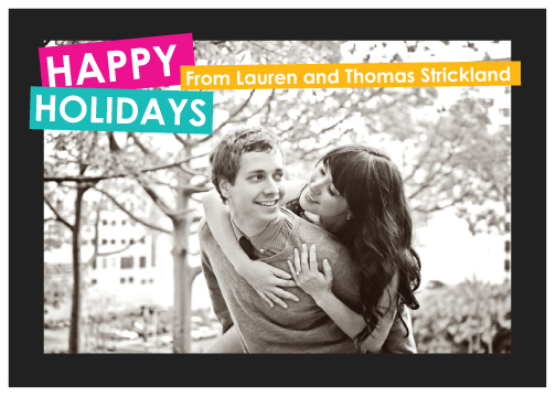 holiday photo cards - Neon Brights by Kirstin Nagy