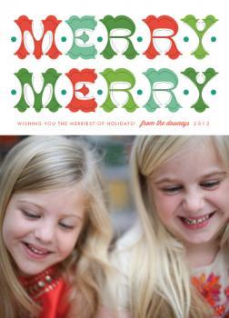 folk merry merry Holiday Photo Cards
