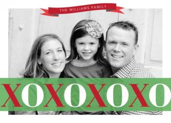 Xs & Os Holiday Photo Cards