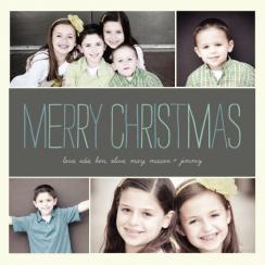 Subtle Square Photo Holiday Photo Cards