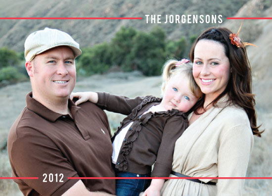 holiday photo cards - simple stripe