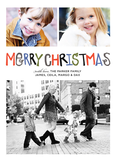 holiday photo cards - Multi Color Merry by Abby Munn