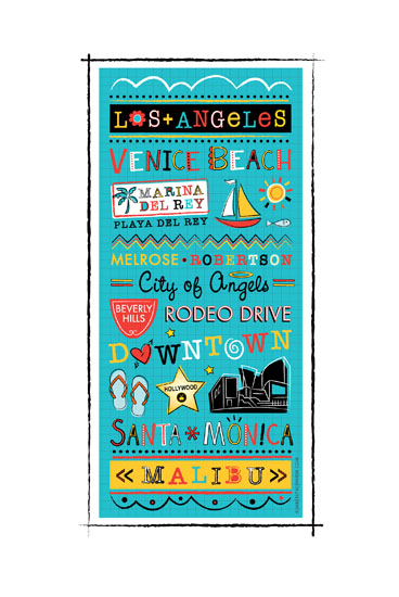 art prints - I Heart LA by Kimberly Schwede