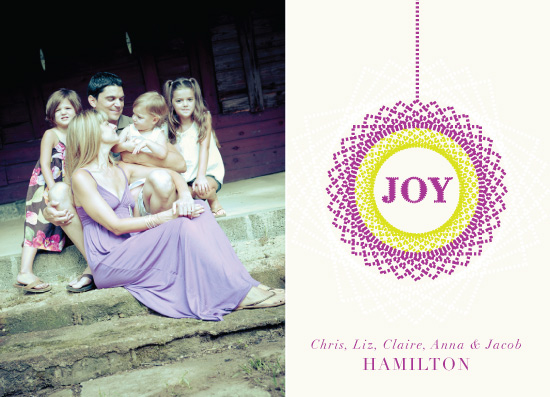 holiday photo cards - Stitched Up Wreath