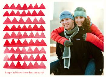 Painted Triangles Holiday Photo Cards