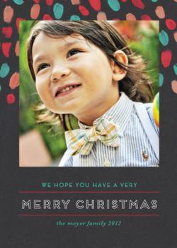 very painted merry Holiday Photo Cards