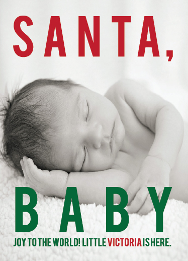 holiday photo cards - Santa Baby (Editable) by Alexandra Nazari