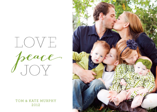 holiday photo cards - Love Peace Joy by Paper Dahlia