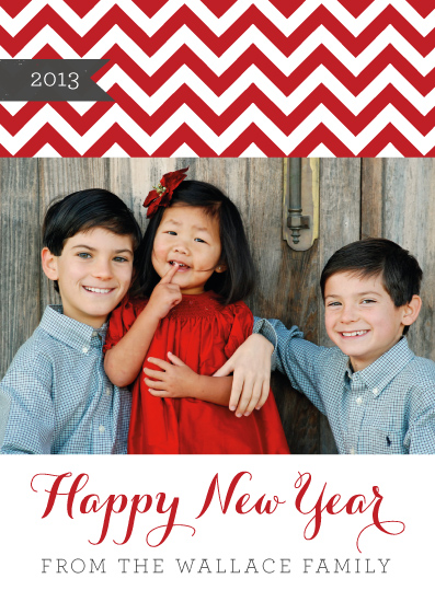 holiday photo cards - Chevron Happy by Five Sparrows