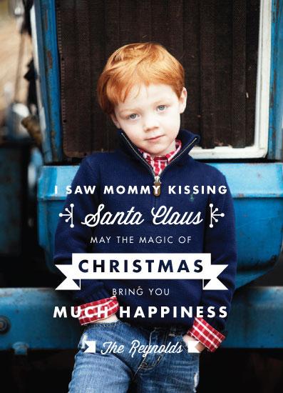 holiday photo cards - kissing santa by Aspacia Kusulas