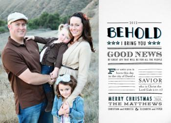 Good News Herald Holiday Photo Cards