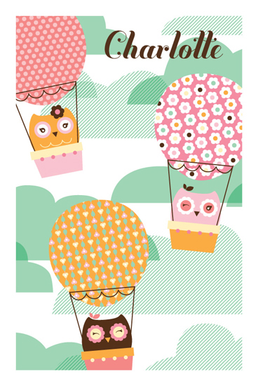 art prints - HootAir Baloon by Muffin Grayson