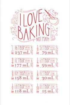 I Love Baking Not Math