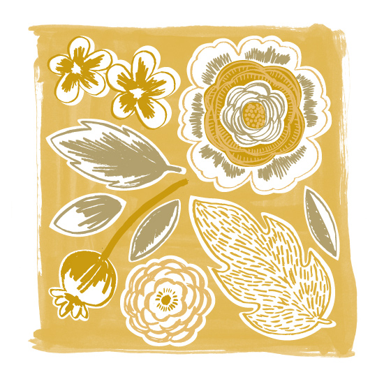 art prints - Sketchbook Flowers 2 by Alethea and Ruth