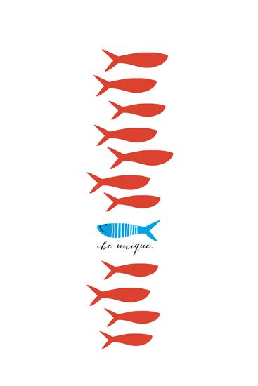 art prints - Unique Fishy by Oscar & Emma
