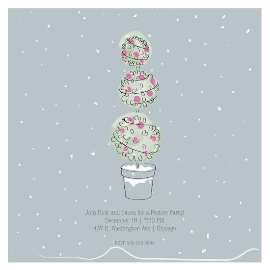 party invitations - First Snowfall by Samantha Kachel
