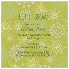 let it snow Party Invitations
