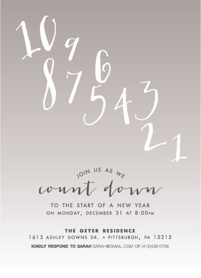 party invitations - Countdown by Jen Gebrosky