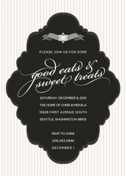 Black Tie Winter Soiree Party Invitations