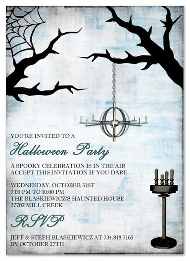 party invitations - Spooky Celebration by Stephanie Blaskiewicz