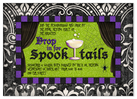 party invitations - Spooktails by Stephanie Blaskiewicz