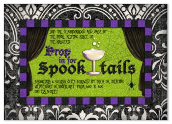 Spooktails Party Invitations