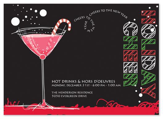 party invitations - Holiday Cheer by Stephanie Blaskiewicz