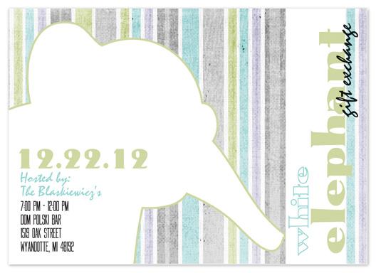party invitations - White Elephant by Stephanie Blaskiewicz