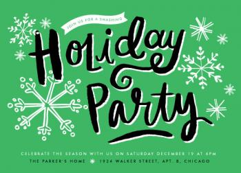 Holiday Snowflakes Party Invitations