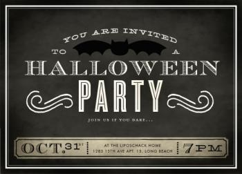 Halloween Bat Party Party Invitations