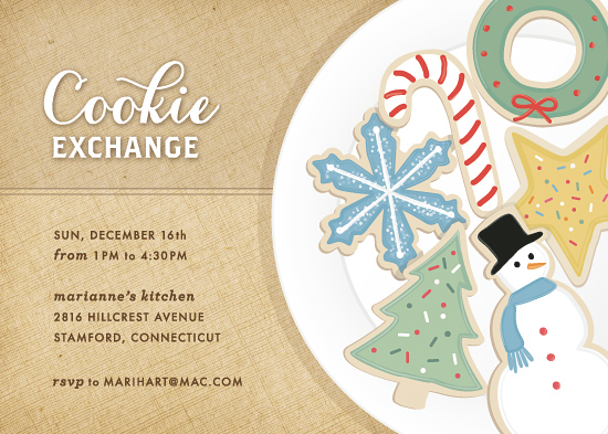party invitations - Cookie Exchange by Hooray Creative