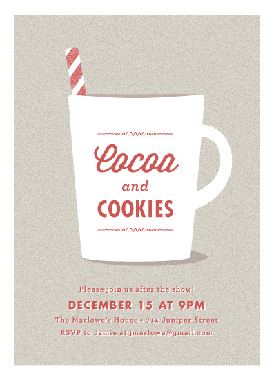 party invitations - Cocoa & Cookies by Wondercloud Design