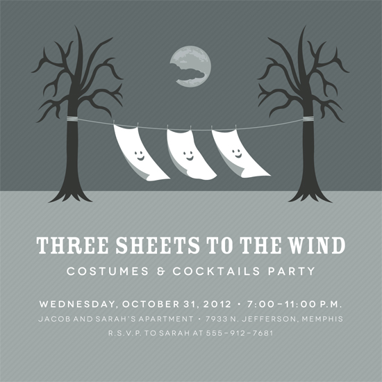 party invitations - Three Sheets to the Wind by Tanya Pedersen