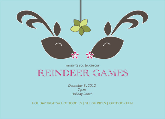 party invitations - reindeer games by t-da studio