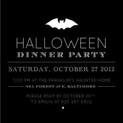 Batty Halloween Party Invitations