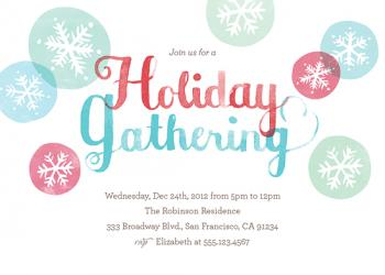 Holiday Snowflakes Party Invitations