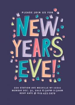 New Years Eve Party Party Invitations