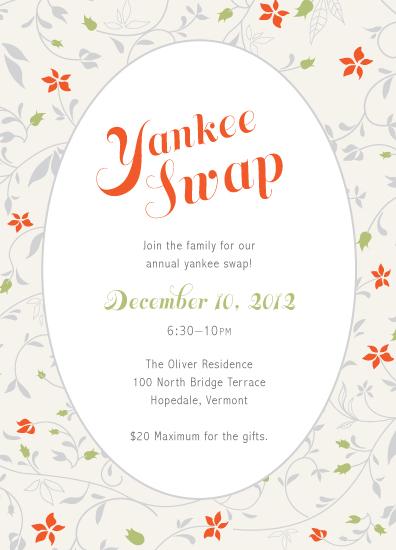 Gift swap invitation wording invitationswedd party invitations yankee swap at minted com stopboris Gallery