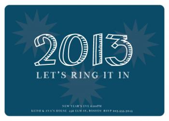 Starry New Year Party Invitations