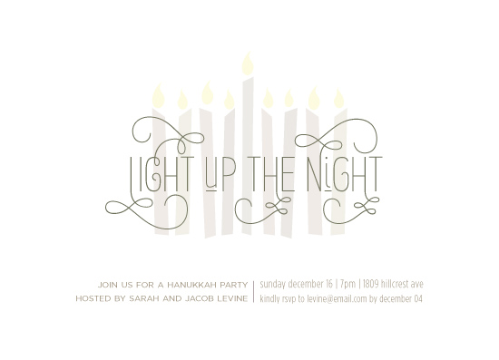 party invitations - Light up the night by Rebecca Bowen