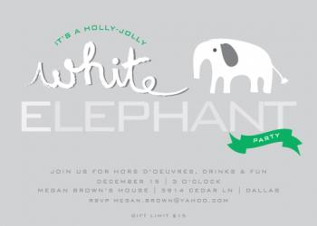 holly jolly elephant Party Invitations