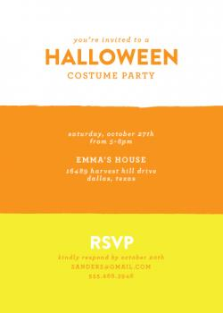 Candy Corn Party Invitations